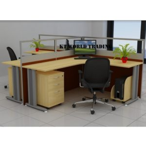 KT-PW16(FG) office partition workstation office furniture malaysia selangor shah alam kuala lumpur klang valley