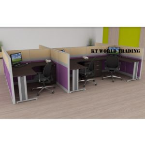 KT-PW23(FF) office partition workstation office furniture malaysia selangor shah alam kuala lumpur klang valley
