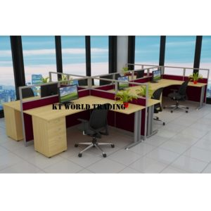 KT-PW23(FP) office partition workstation office furniture malaysia selangor shah alam kuala lumpur klang valley