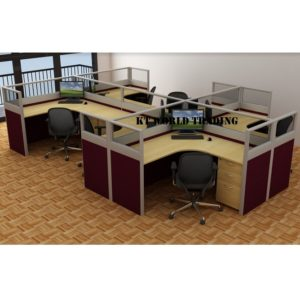 KT-PW23(FG) office partition workstation office furniture malaysia selangor shah alam kuala lumpur klang valley
