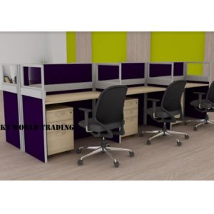 KT-PW22(FG) office partition workstation office furniture malaysia selangor shah alam kuala lumpur klang valley