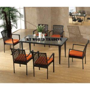 GARDENT SET KT-2201C+T black orange cusion garden table garden chair malaysia selangor kuala lumpur petaling jaya shah alam