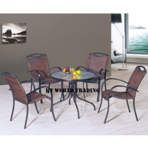 GARDENT SET KT-8868C+T black orange cusion garden table garden chair malaysia selangor kuala lumpur petaling jaya shah alam