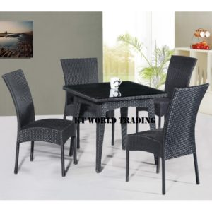 GARDENT SET KT-8871C+T black orange cusion garden table garden chair malaysia selangor kuala lumpur petaling jaya shah alam