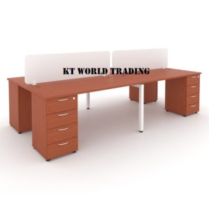 WORK STATION WITH RECTANGULAR WRITING TABLE & DESKING CHERRY Malaysia shah alam kuala lumpur klang valley