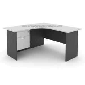 L Shape Writing Table (Wooden Leg) Model : MP1566-FP2 MALAYSIA KUALA LUMPUR SHAH ALAM KLANG VALLEY