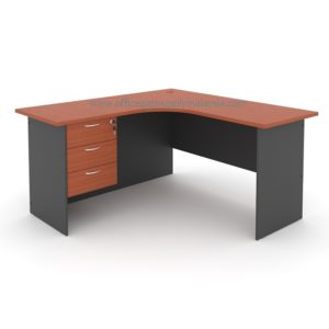 L Shape Writing Table (Wooden Leg) Model : MP1566-FP3 MALAYSIA KUALA LUMPUR SHAH ALAM KLANG VALLEY