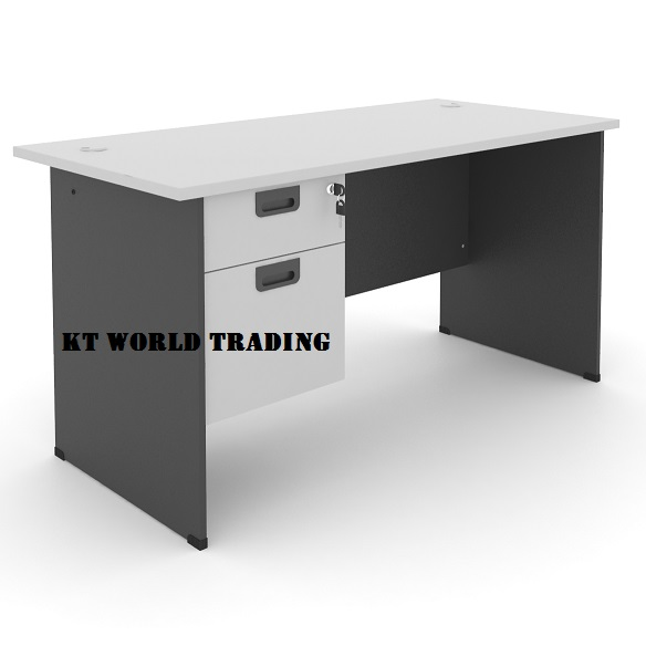 rectangular office table with fixed pedestal 2 drawer office furniture kuala lumpur shah alam klang valley