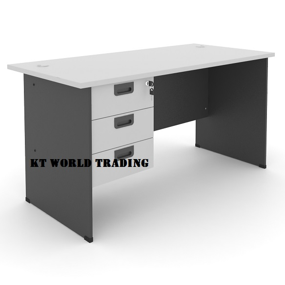 rectangular office table with fixed pedestal 3 drawer office furniture kuala lumpur shah alam klang valley