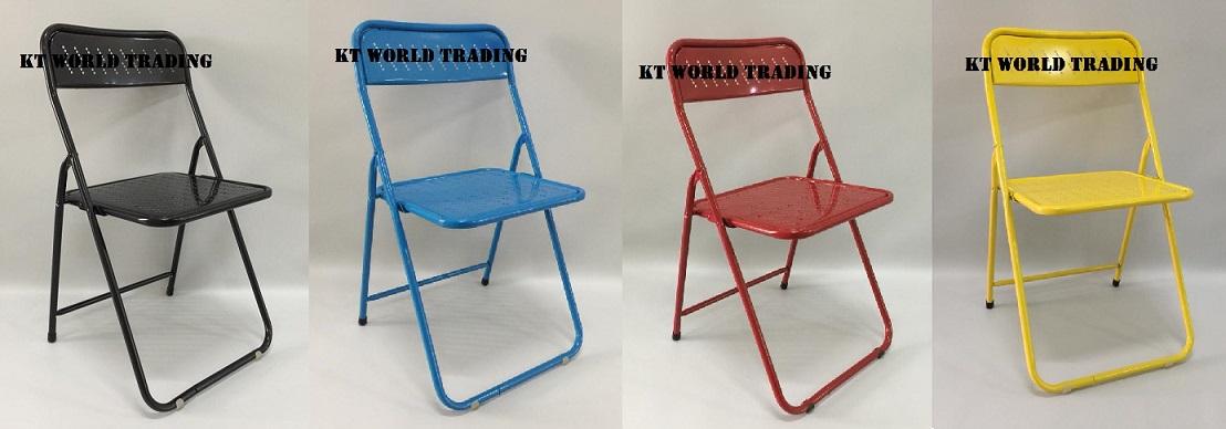 foldable metal chair combination color office furniture malaysia kuala lumpur shah alam klang valley