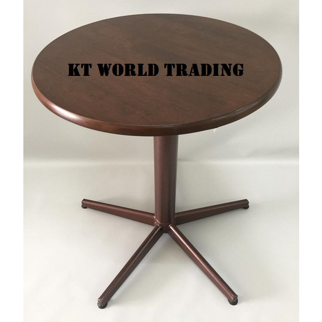 2FT ROUND TABLE RUBBERWOOD TOP COLOR WENGE office furniture malaysia kuala lumpur shah alam klang valley