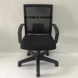 MESH LOWBACK CHAIR BACKREST & SEAT BLACK office furniture malaysia kuala lumpur shah alam klang valley