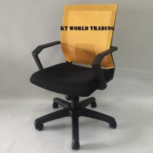 MESH LOWBACK CHAIR YELLOW BACKREST office furniture malaysia kuala lumpur shah alam klang valley
