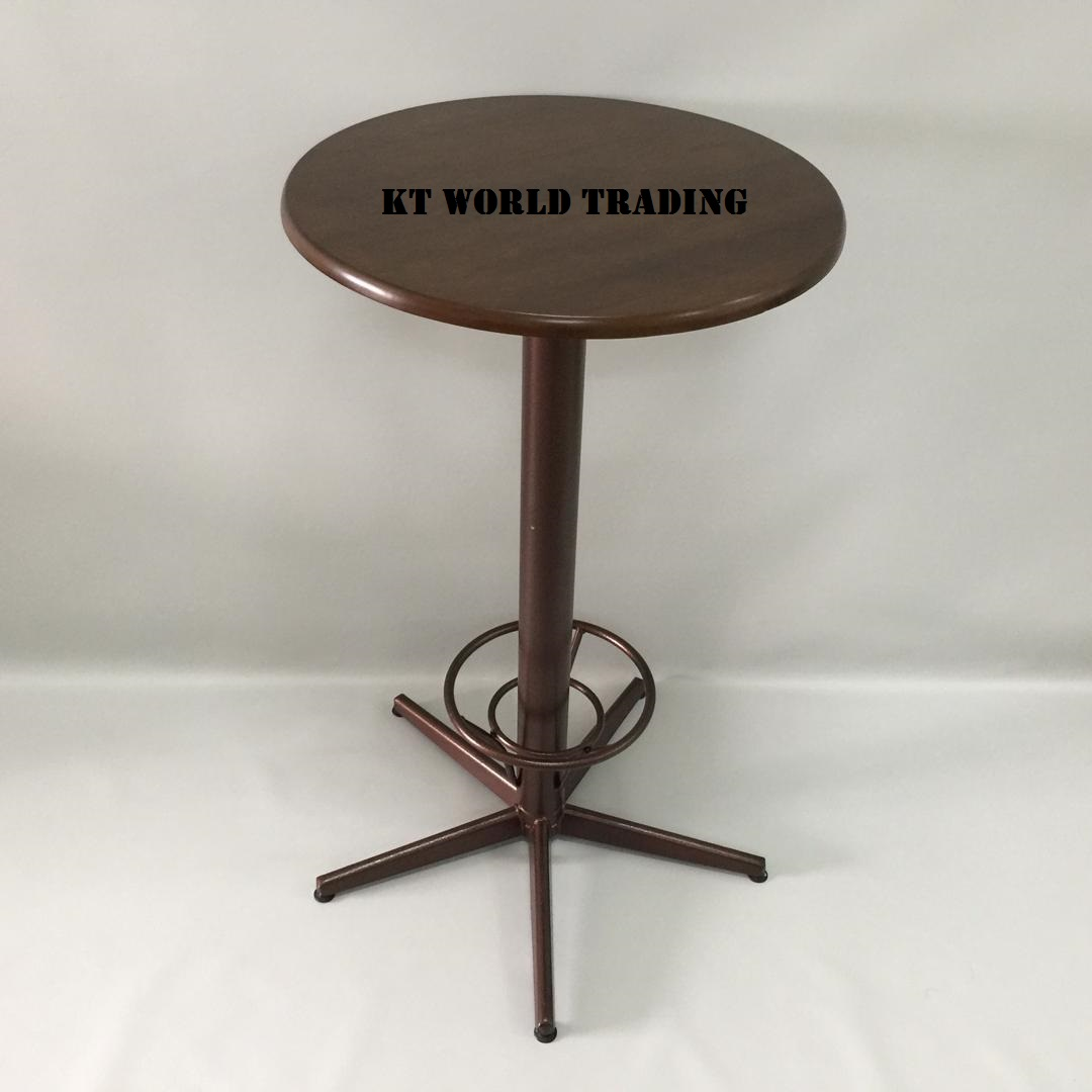 ROUND BAR TABLE RUBBERWOOD TOP WENGE COLOR office furniture malaysia kuala lumpur shah alam klang valley