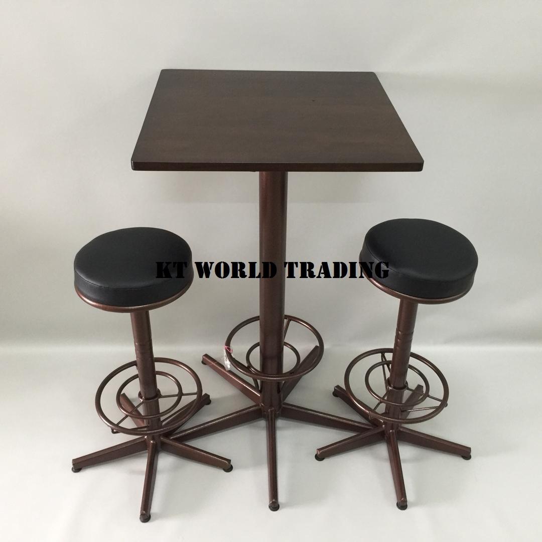 SQUARE BAR TABLE RUBBERWOOD TOP WENGE CW BAR CHAIR office furniture malaysia kuala lumpur shah alam klang valley