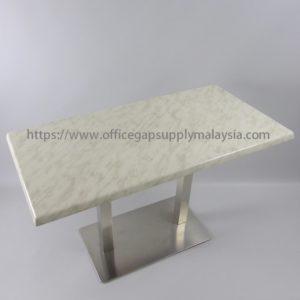 RECTANGULAR BAR TABLE RECTANGULAR CHROME LEG office furniture malaysia kuala lumpur shah alam klang valley