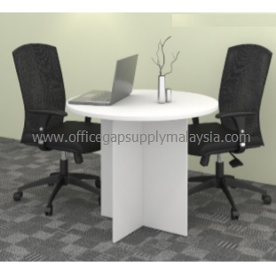 3ft Round Conference Table (Wooden Leg) Model KT-MR90&120 MALAYSIA KUALA LUMPUR SHAH ALAM KLANG VALLEY
