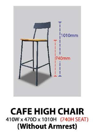 CAFE HIGH CHAIR KT-CHC MALAYSIA KUALA LUMPUR SHAH ALAM KLANG VALLEY