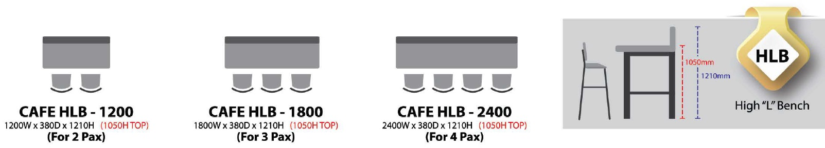 CAFE HIGH L BENCH MALAYSIA KUALA LUMPUR SHAH ALAM KLANG VALLEY