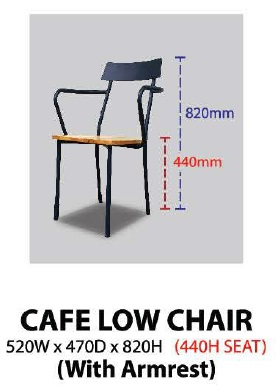 CAFE LOW CHAIR KT-CLC MALAYSIA KUALA LUMPUR SHAH ALAM KLANG VALLEY
